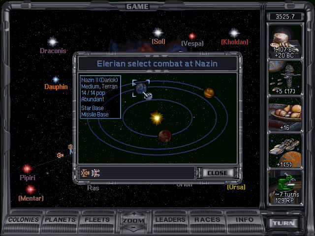 Nazin II is defended by a Star Base and Missile Base